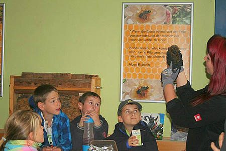 Die Kinder haben die Möglichkeit, Tiere und Natur kennen und verstehen zu lernen.