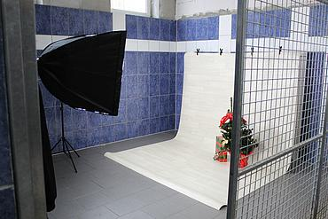 Set für das Weihnachtsshooting
