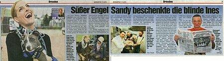 "30. April 2013   ""Süßer Engel Sandy beschenkt blinde Ines"""